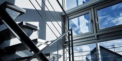 Michelfelder Gebäude Treppenaufgang