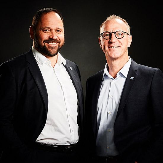 Die heutigen Unternehmenslenker Rainer H. Dick und Klaus Michelfelder
